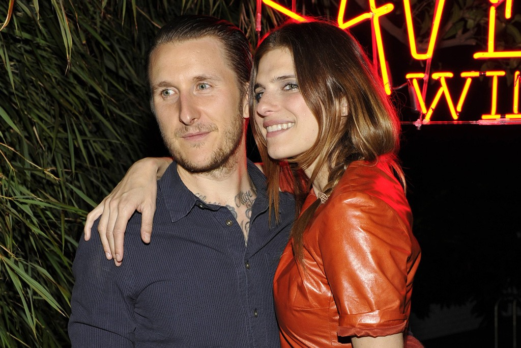 Scott Campbell with Lake Bell in a Lyn Devon top and Vena Cava skirt.