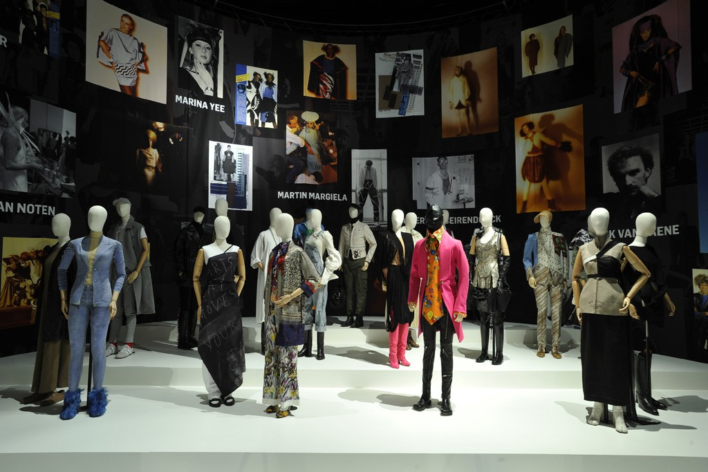 A room dedicated to silhouettes from various collections by the famous Antwerp Six and Martin Margiela.