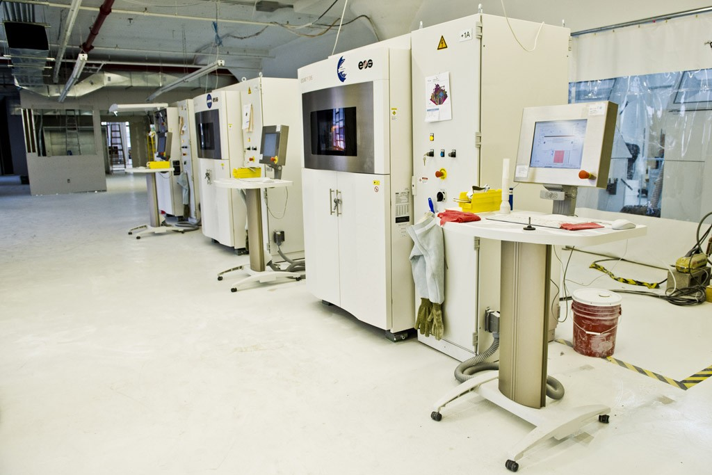 EOS 3D printers used at the Shapeways factories.