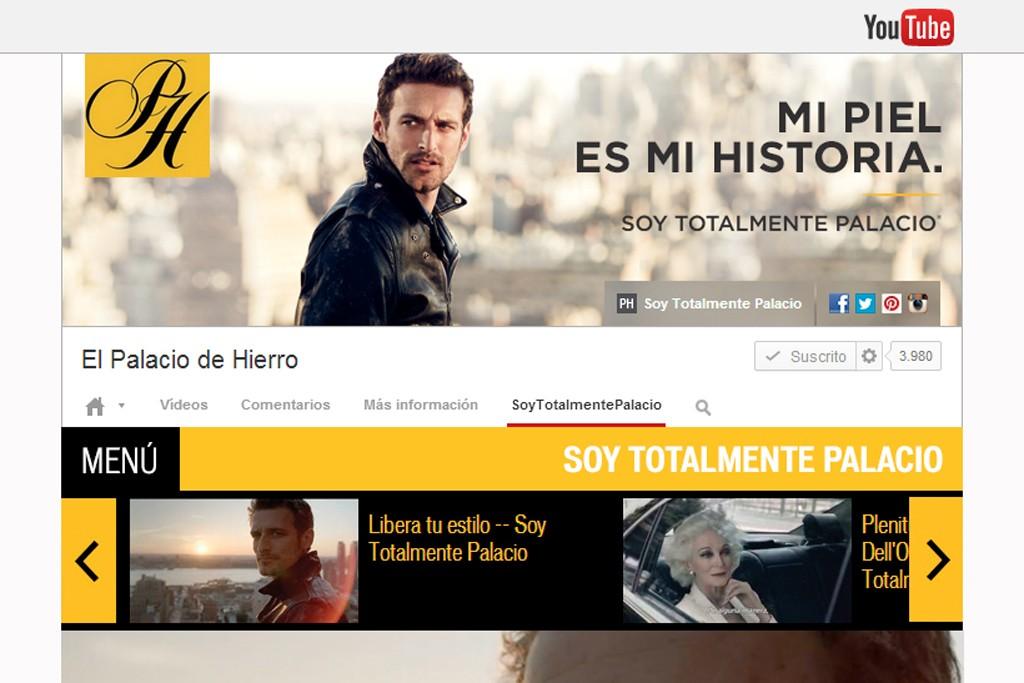El Palacio de Hierro's YouTube channel.