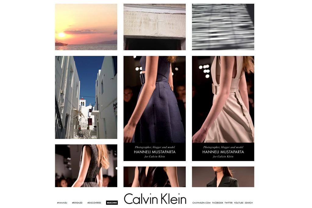 Calvin Klein's Tumblr page.