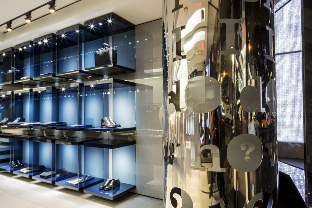 The Matt Keegan installation in the 57th Street flagship.