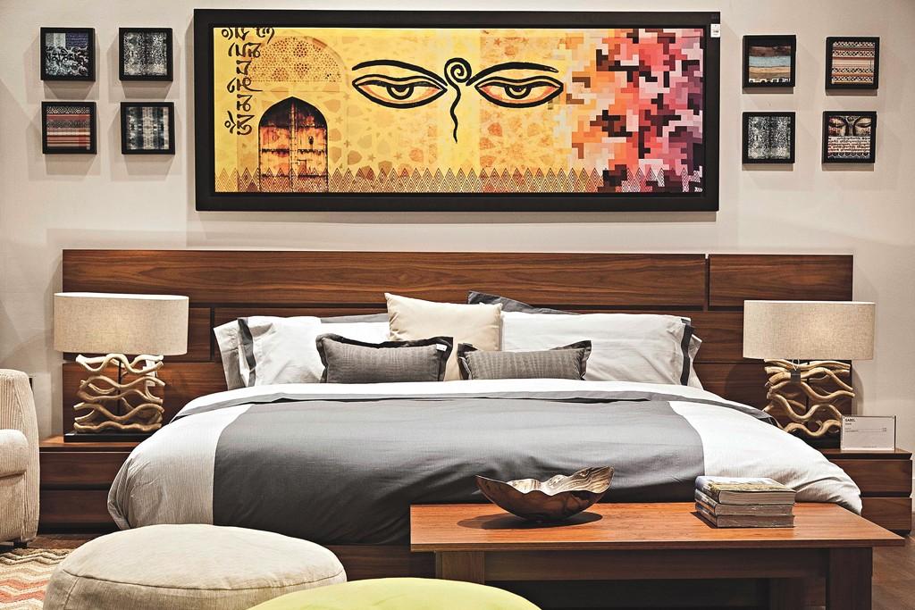A bedroom display at Casa Palacio.