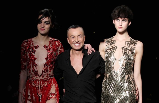 Julien Macdonald with looks from his fall 2013 collection.