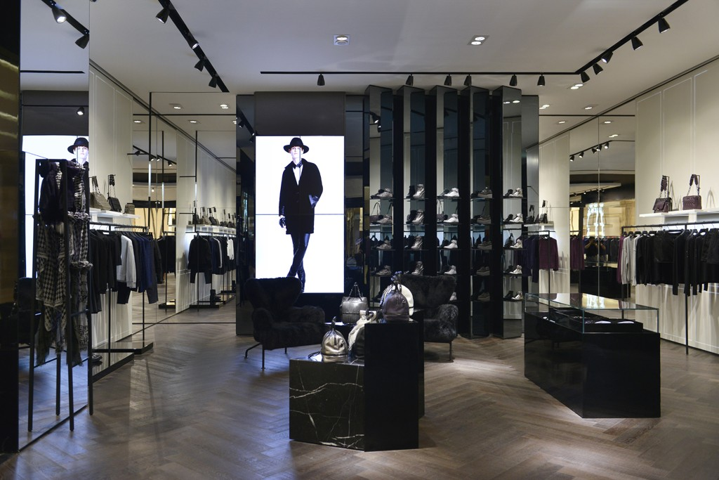 The interior of the Karl Lagerfeld store in the Jing An Kerry Center in Shanghai.