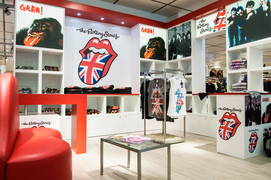 The Rolling Stones shop at Karstadt's Feel London campaign.