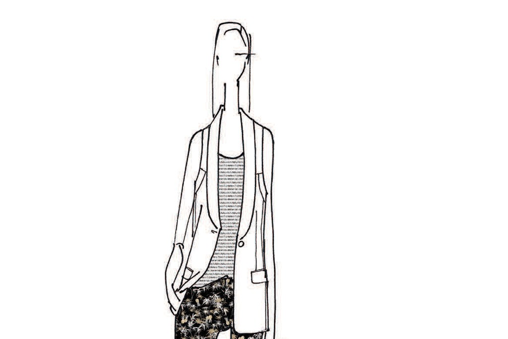 A sketch of a Peter Som look for Kohl's.