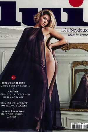Léa Seydoux on the cover of the first issue of Lui.