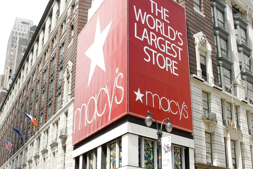 A view outside the Macy's store in Herald Square.