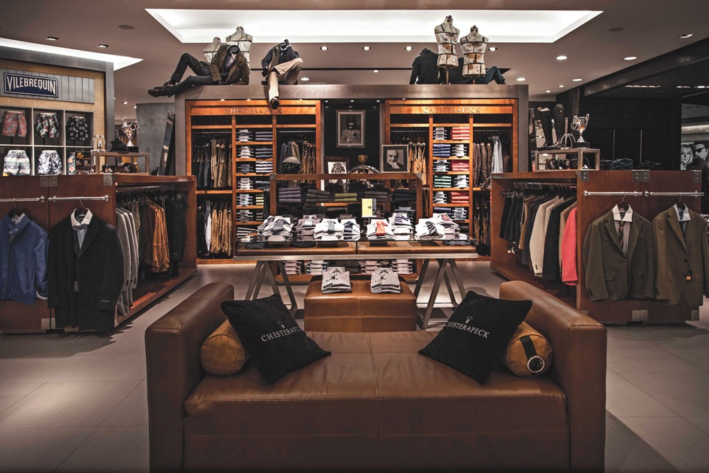 The Chester & Peck private-label display.