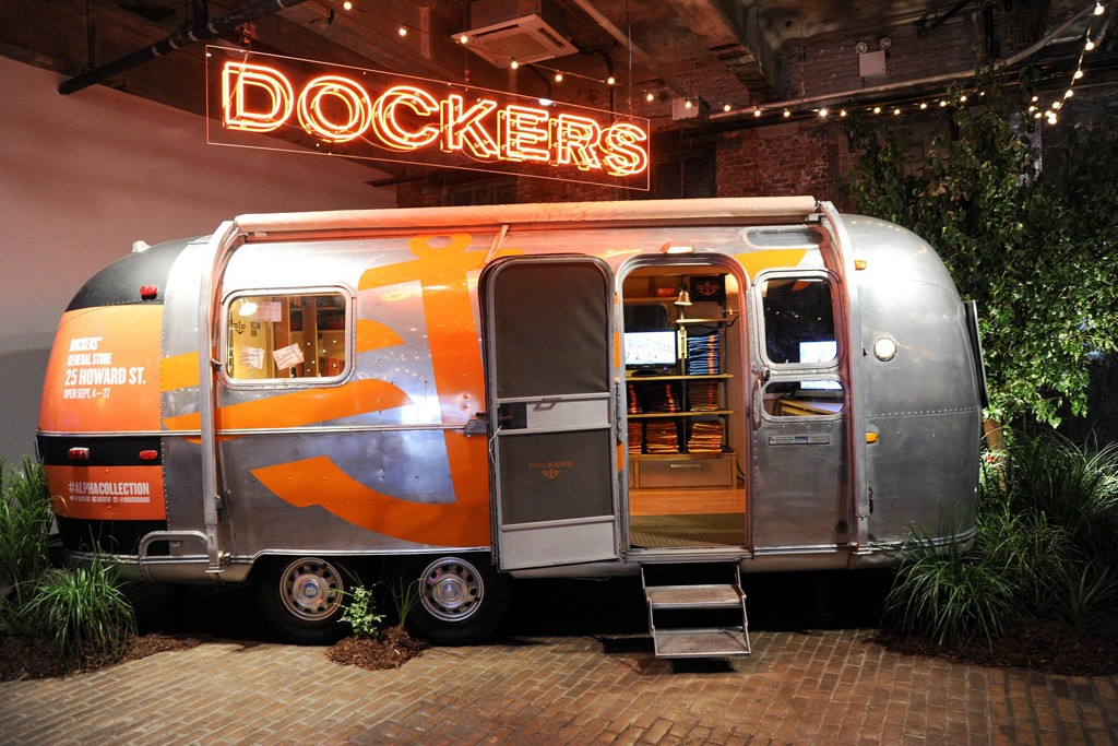 Dockers' pop-up shop at 25 Howard Street called the Dockers General Store.