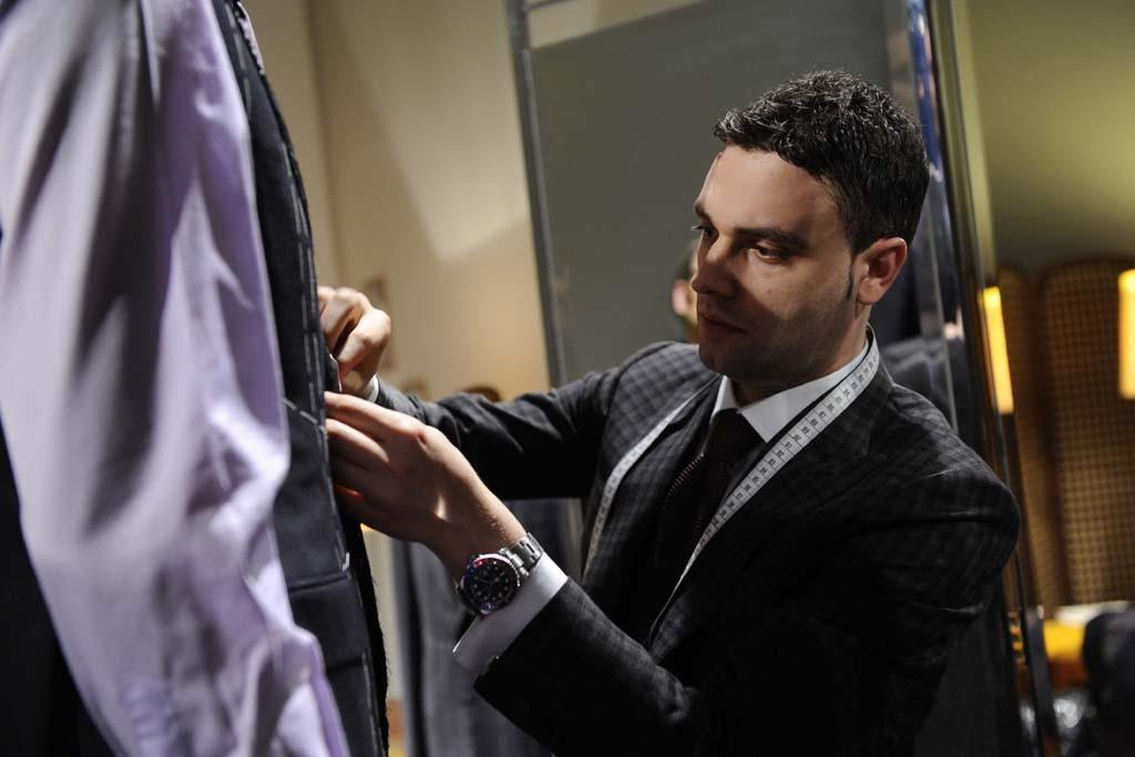 Brioni's chief master tailor, Angelo Di Febo.