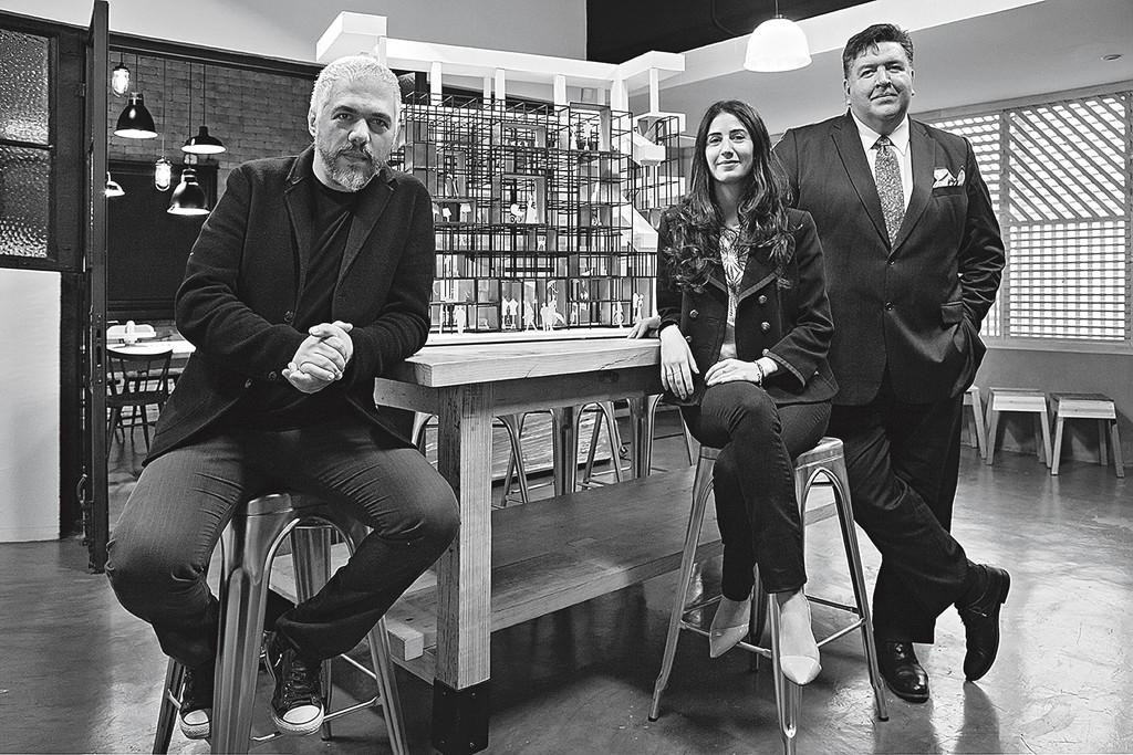Héctor Esrawe, Nathalie Baaklini and Rodrigo Flores of the 125 Years event and marketing team.