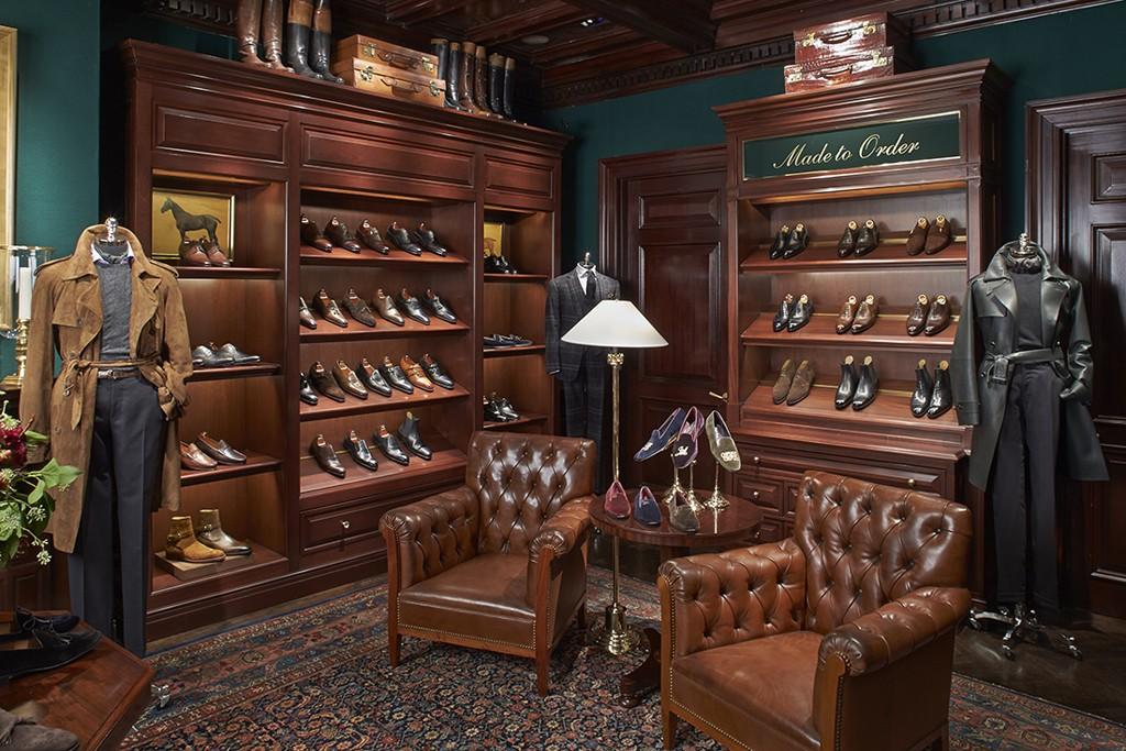The new men's Shoe Salon at the Ralph Lauren Rhinelander Mansion flagship store.