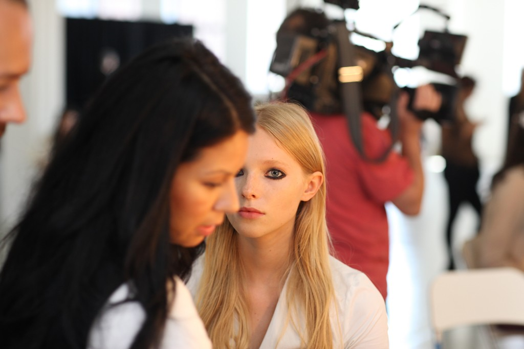 Backstage at Rebecca Taylor RTW Spring 2014