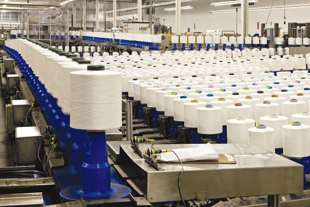 Unifi's automated yarn manufacturing facility.