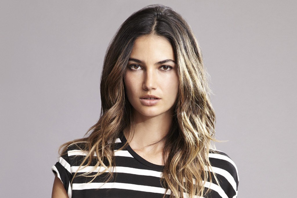 Lily Aldridge in a look from her spring '14 collaboration with Velvet by Graham & Spencer.