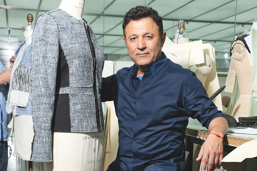Elie Tahari in his studio.