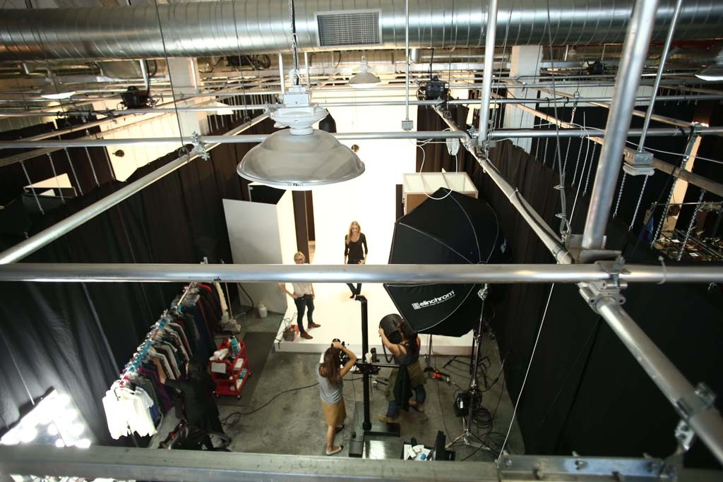 Inside Amazon's photography facility in Williamsburg.