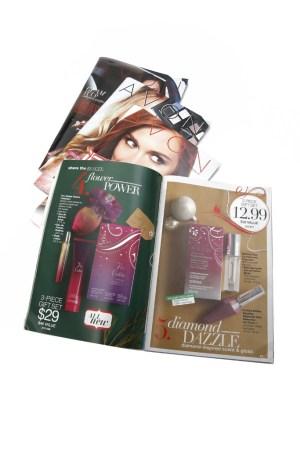 Four of Avon's latest brochures.
