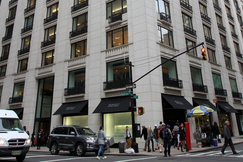 Barneys New York Madison Ave store.