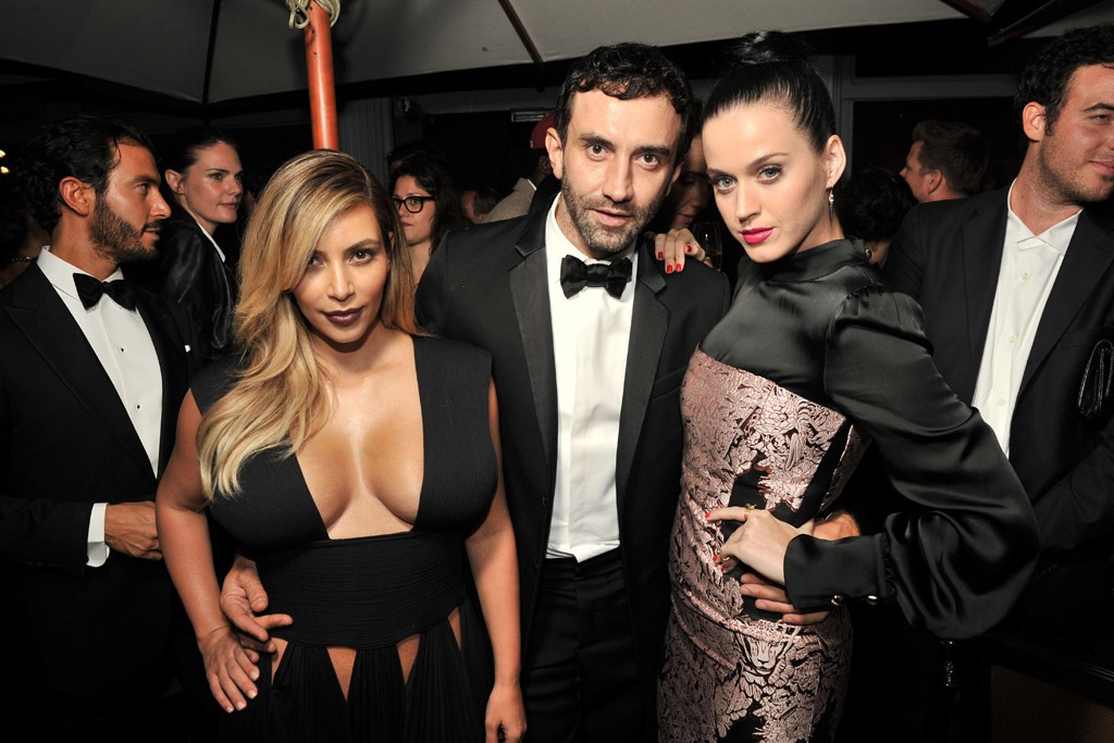 Kim Kardashian in Givenchy, Riccardo Tisci and Katy Perry.