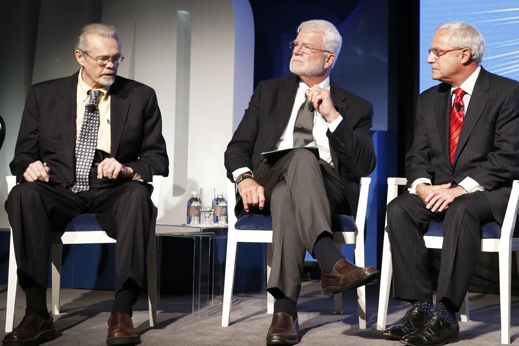 Charles Kernaghan, Rep. George Miller and Rick Helfenbein.