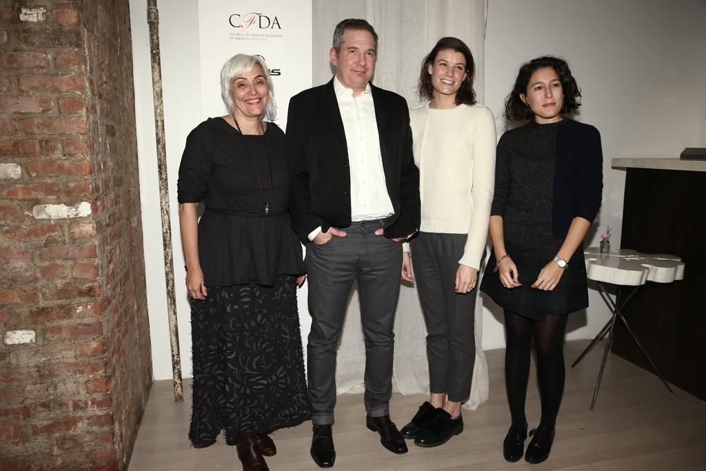 "Eco Fashion Challenge winners Natalie ""Alabama"" Chanin, Mark Davis and Svilu's Britt Cosgrove and Marina Polo."