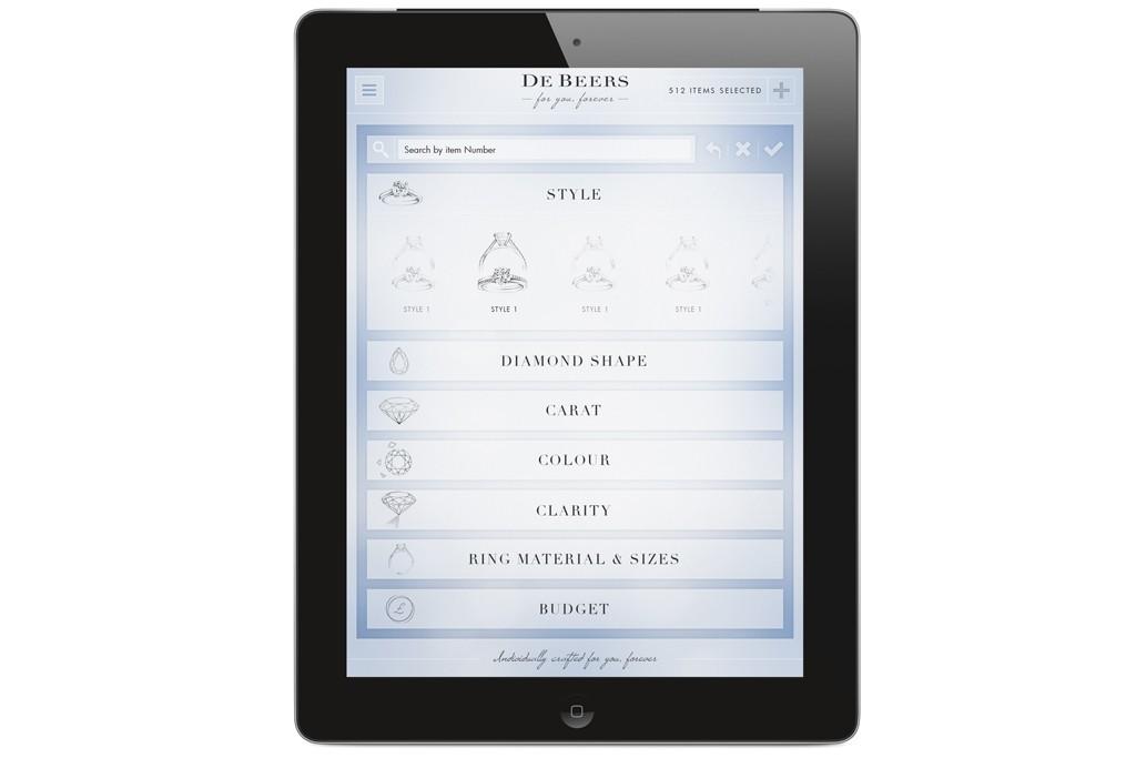 De Beers' new IPad app.