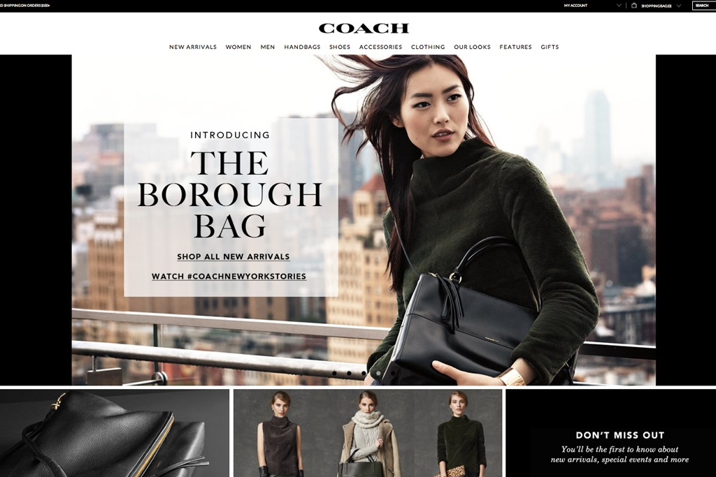 Coach shoppers can pay online and pickup in store that day.