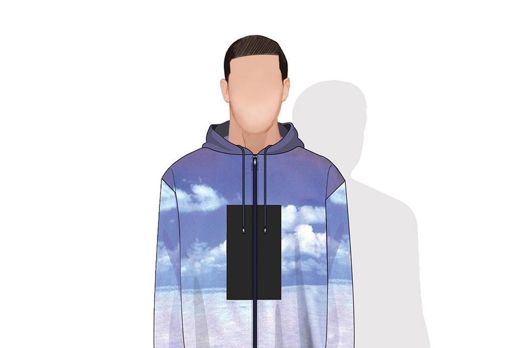 A sketch of a Calvin Klein design for Drake.