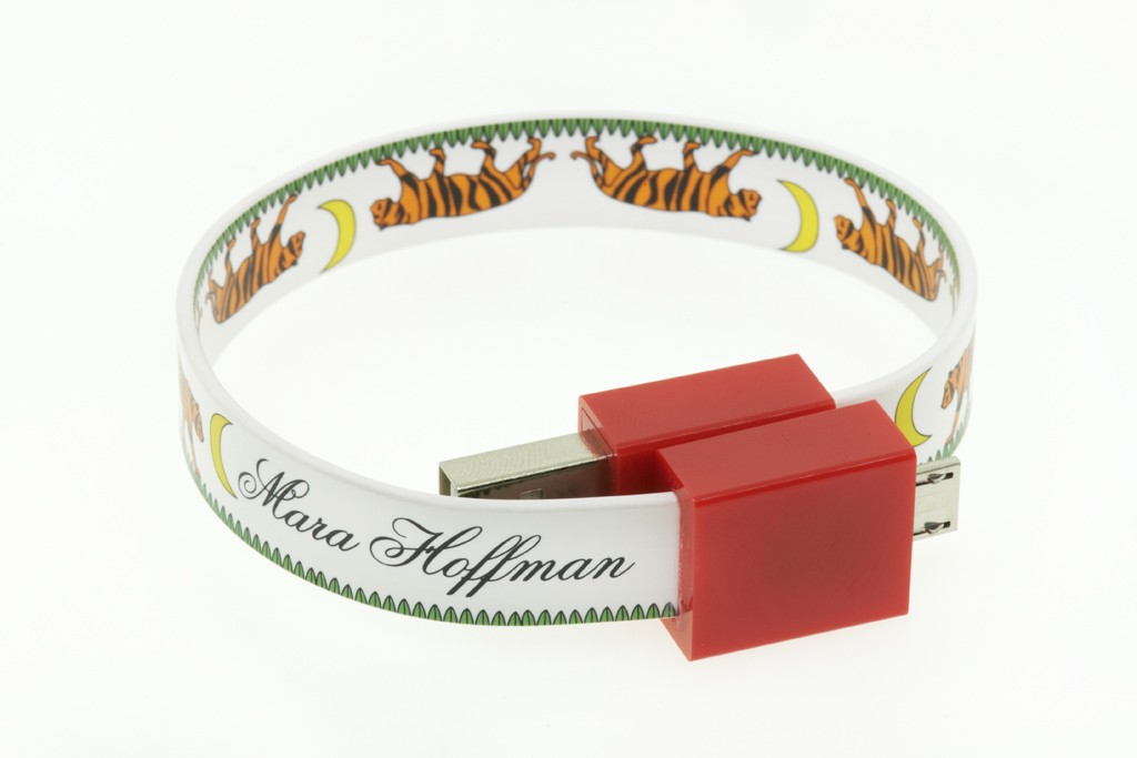 The limited-edition Mara Hoffman tech bracelet for eBay's Holiday Collective.