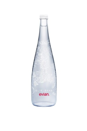 Elie Saab's lace-inspired bottle for Evian.