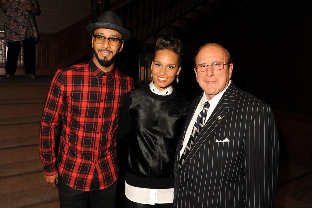 Swizz Beatz, Alicia Keys and Clive Davis.
