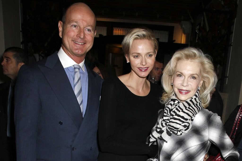 Prince Dimitri of Yugoslavia, Princess Charlene of Monaco in Akris and Lynn Wyatt.