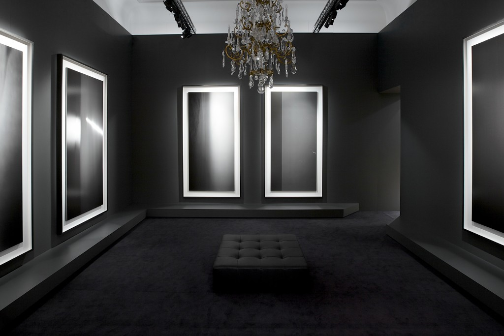 The Hiroshi Sugimoto exhibition at the Boucheron store.