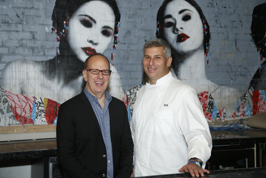 Tao Group co-owner Rich Wolf with chef Ralph Scamardella.