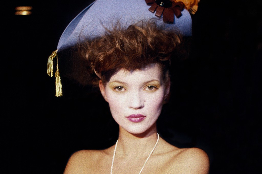 Kate Moss backstage at Vivienne Westwood in 1993.