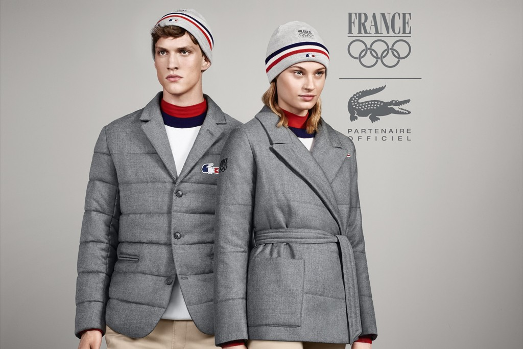 The Lacoste official outfit for the French Olympic team.