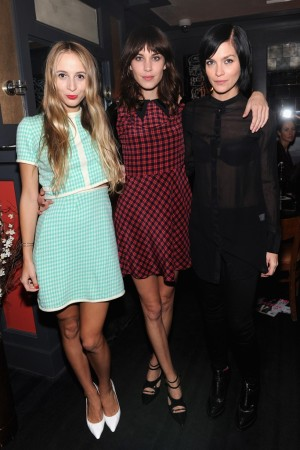 Harley Viera-Newton, Alexa Chung and Leigh Lezark.