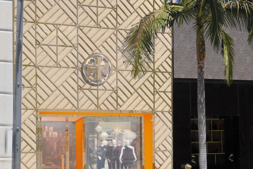 A rendering of the Tory Burch Beverly Hills flagship.