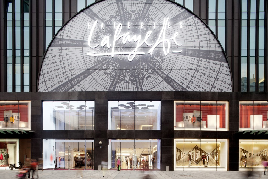 The entrance of the Galeries Lafayette store in Beijing.