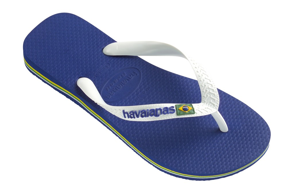Havaianas featuring the Brazil logo.