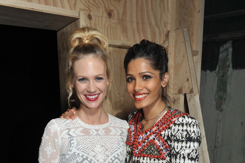 January Jones and Freida Pinto