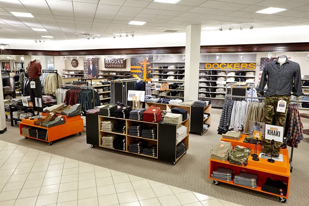 The Haggar and Dockers in-store shops at J.C. Penney.