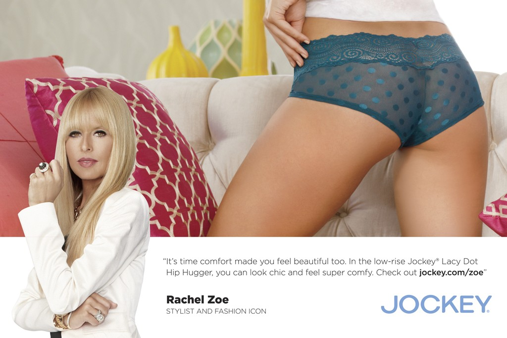 """Jockey's ad campaign featuring Rachel Zoe's """"Must-Haves."""""""