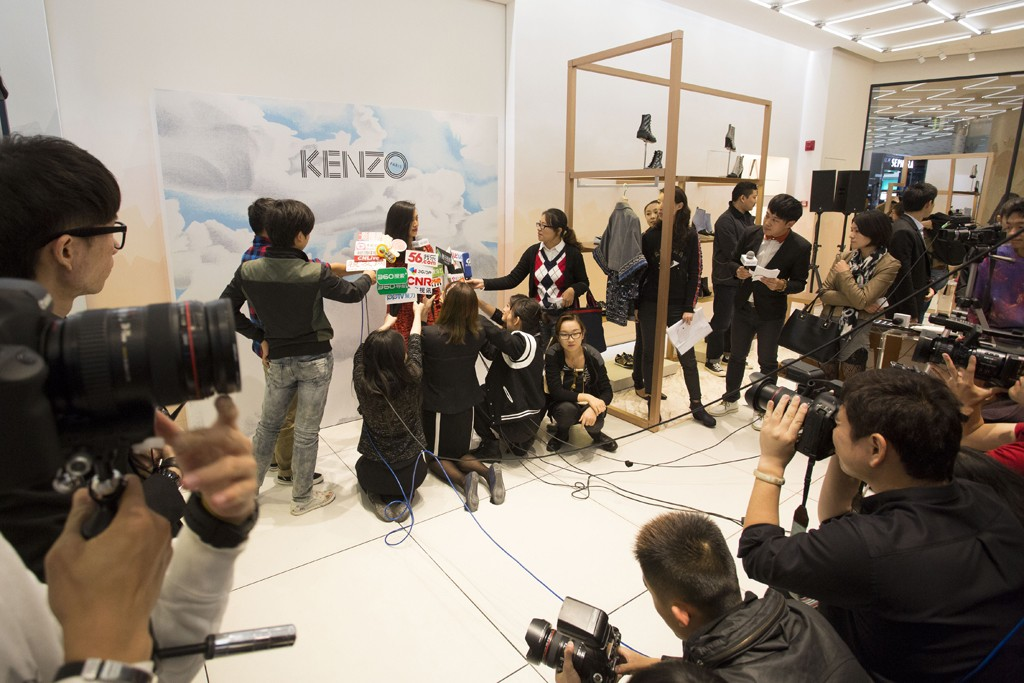 Kenzo shop opening in L'avenue Mall in Shanghai, China.