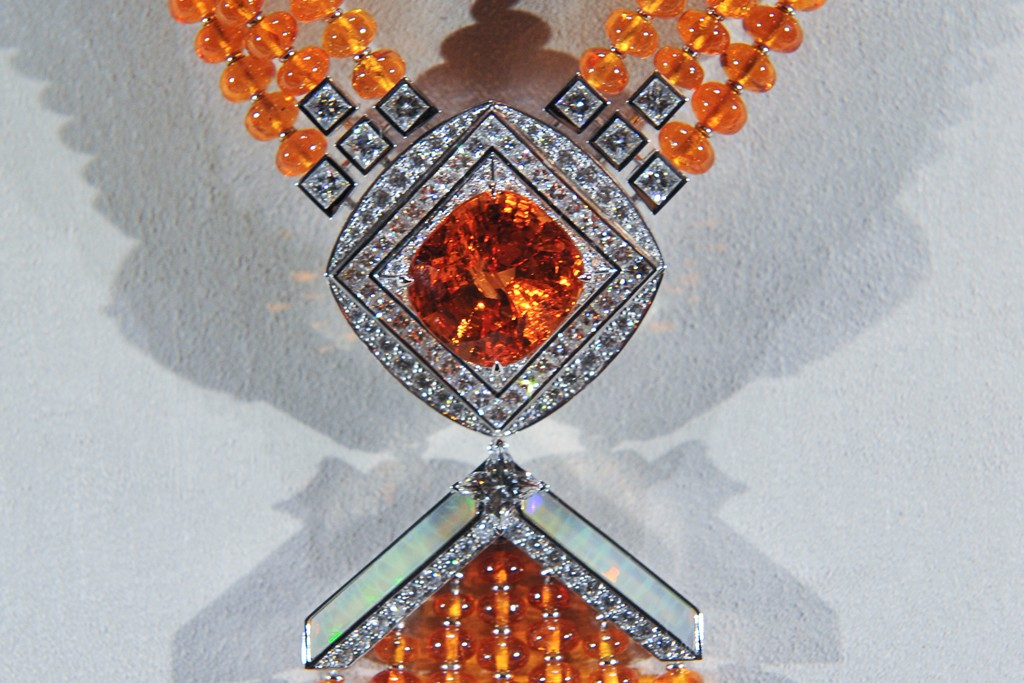 A necklace from Louis Vuitton's Talisman line.