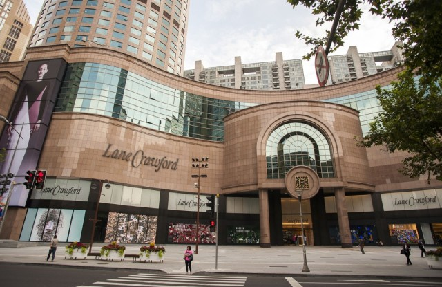 The Lane Crawford store in Shanghai.