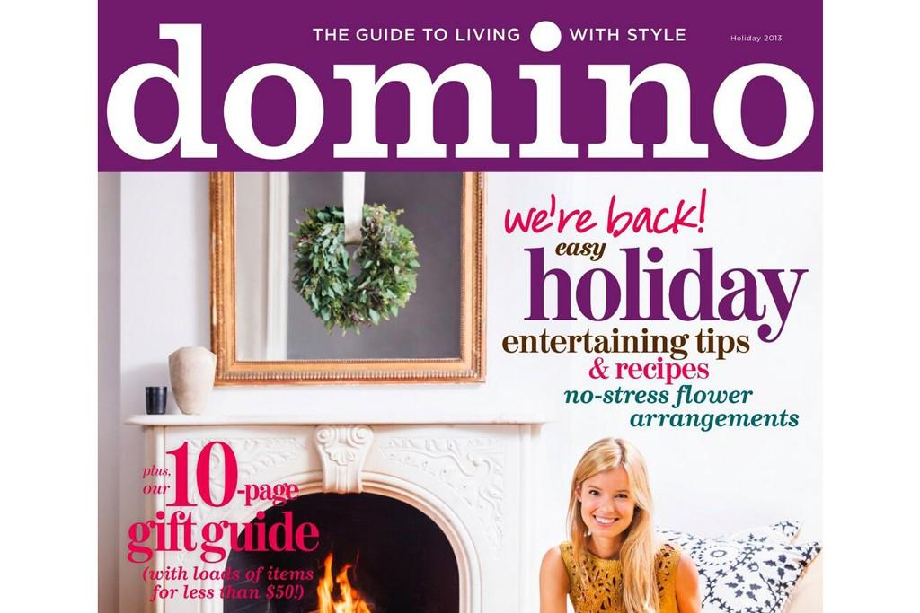 Domino Magazine's Holiday 2013 cover.